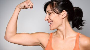Muscles in woman